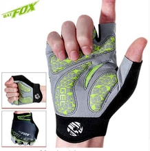 цены BATFOX Summer Cycling Gloves Men Half Finger Breathable Shock absorption Bicycle Gloves Guantes Ciclismo Cortos Bike Gloves M-XL