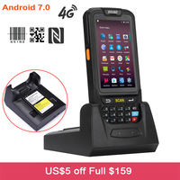 7 android 4 DHL Free Shipping 4 inch Touch Screen IP65 Waterproof Industrial PDA Handheld Terminal 1D 2D Laser Barcode Scanner Android 7.0 (1)