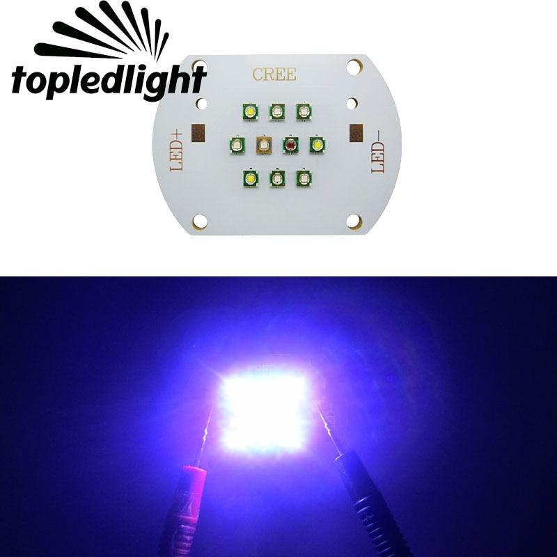 Topledlight DIY Aquarium Led Lamp Light SemiLEDs UV 420nm Cree XPE Cool White 10000k Red 630NM Green 530NM Royal Blue 450NM LED topledlight customize 50w blue 450nm 42mil