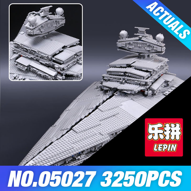 LEPIN 05027 Star 3250Pcs Wars Emperor fighters starship Model Building Kit Blocks Bricks Educational DIY Toy Compatible 10030 new lepin 05027 3250pcs star wars imperial star destroyer model building kit blocks bricks educational compatible legoed 10030