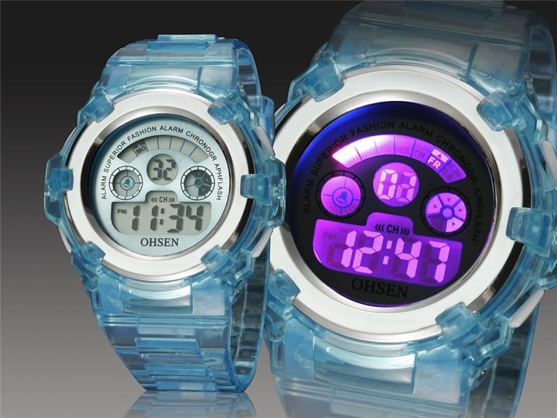 OHSEN Kids Watches Children Digital LED Fashion Sport Watch Cute Boys Girls Wrist watch Waterproof Gift Watch Alarm Kids Clock (9)