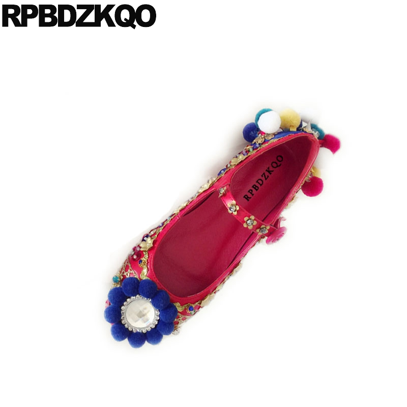 women flats sequin mary jane flower floral red chinese wedding shoes metal handmade glitter crystal rhinestone applique woven traditional chinese shoes sandals retro flats size 41 large platform hollow out flower floral japanese school mary jane women
