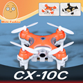 Cheerson cx-10c 2.4g 4ch rc quadcopter com câmera 0.3mp led de bolso micro zangão drones cheerson cx-10 mini flyin