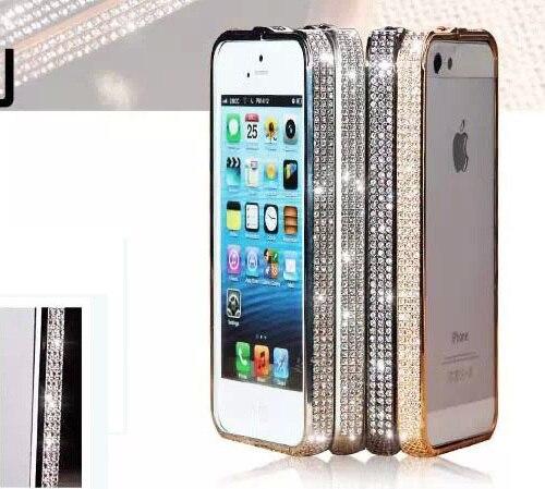 Luxury Czech Gold Rhinestone Diamond case Metal women 5s Bumper Frame Bling Case iPhone 5 5g - MagicBuying store