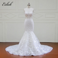 Eslieb High End Custom Made Off Shoulder Mermaid Wedding Dress 2018 For Plus Size Wedding Dresses