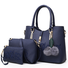 Sisjuly 3pcs Leather Bags Handbags Women Famous Brand Shoulder Bag Female Casual Tote Women Messenger Bag Set Bolsas Feminina
