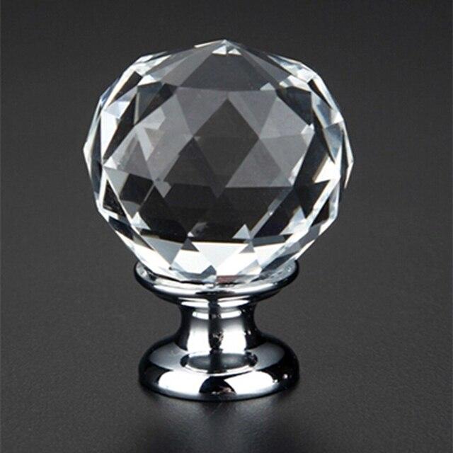 12 stücke k9 clear crystal ball knob möbel knöpfe küche schublade