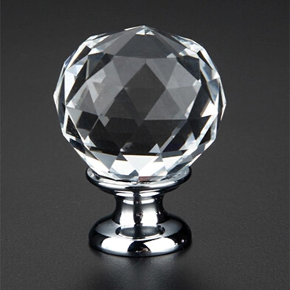 12pcs k9 clear crystal ball knob furniture knobs kitchen drawer cabinet glass door handles drawer pulls