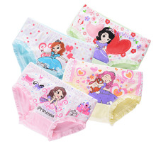 4pcs/lot Cute Cotton Boxer Briefs princess Girls Underwear Children Kids