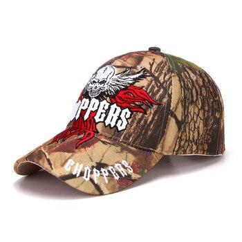 2018 al aire libre camuflaje de la cabeza del cráneo bordado gorra de  béisbol de la selva sombrero formación gorra de deporte del desierto de las mujeres  de ... 2d699f89919