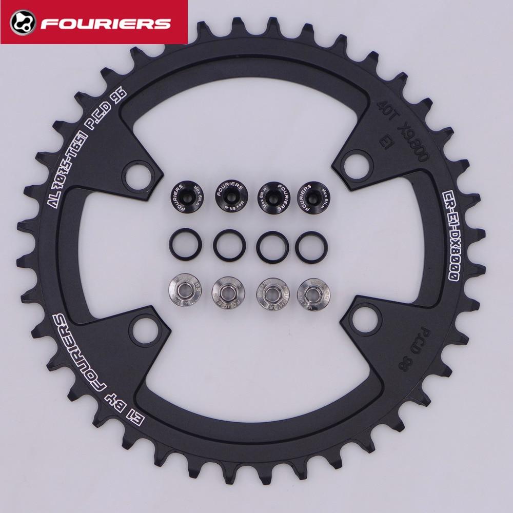 цена на FOURIERS MTB Mountain Bicycle Single Narrow Wide 11 Speed Bike Chainring For SHIMANO M7000/M8000 38/42/44T