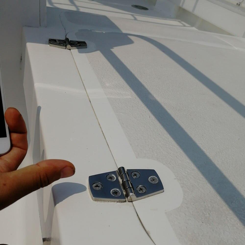 Купить с кэшбэком Stainless Steel 316 Boat Strap Hinge Heavy Duty High Mirror Finish Cabin Door Hatch Utility Locker Strap Hinge 10pcs 38*76mm