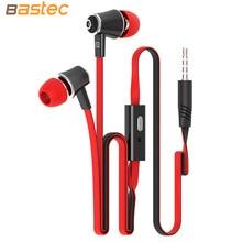 Langstom Original 3.5MM Stereo HIFI Bass Earphones with Built-in Microphone Headphone for iPhone Samsung MP3