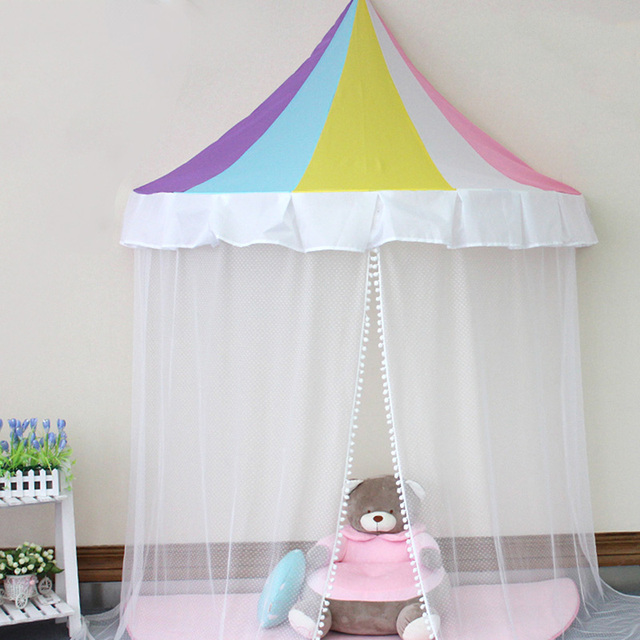 Hot Selling Kids Play Tent Rainbow Pattern Indoor Children Toy Tents Girl Princess Castle Hanging Dome  sc 1 st  AliExpress.com : girl play tents - memphite.com