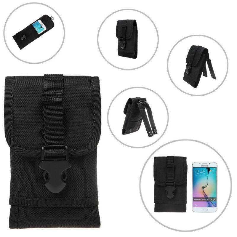 Universal Mobile Phone Bags Case Fit For iPhone 6 Molle Sports Outdoor Hiking Army Waist Bag Loop Belt Pouch For Samsung Galaxy
