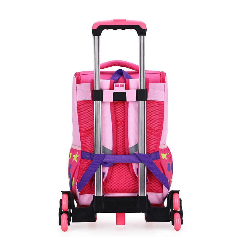 ZIRANYU niños niñas carrito mochila para equipaje, mochila, mochila para niños, mochilas escolares, 2/6 ruedas, escaleras