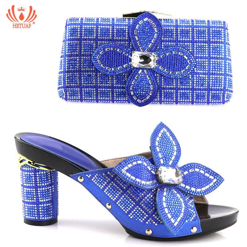 Italiennes Noir argent Bleu bleu Pour Sacs Sac Parti Dames vert orange Royal Chaussures Assortis Avec Africain Mariage Femmes Les Décoré Couleur Ensemble Et De nHTqwABIxg