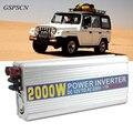 GSPSCN  Car-Charger Converter DC Inverter 12V to AC 220V 2000W Power Inverter Adapter Converter with USB 5V Output Car Charger