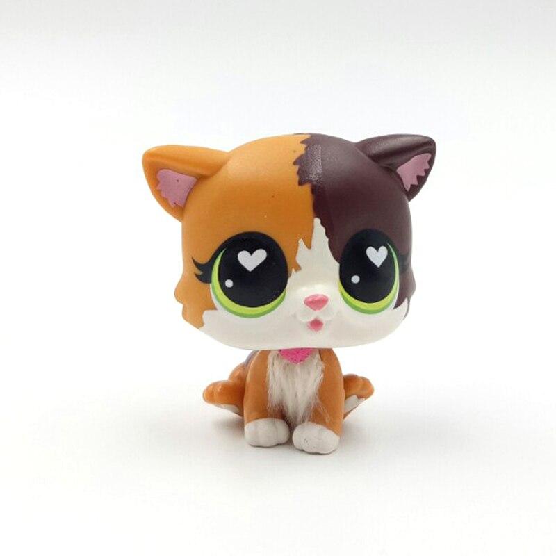 Neue pet shop lps spielzeug katze Felina Meow kurzen haar kitty mit weiß herz grün augen kind sammeln geschenke