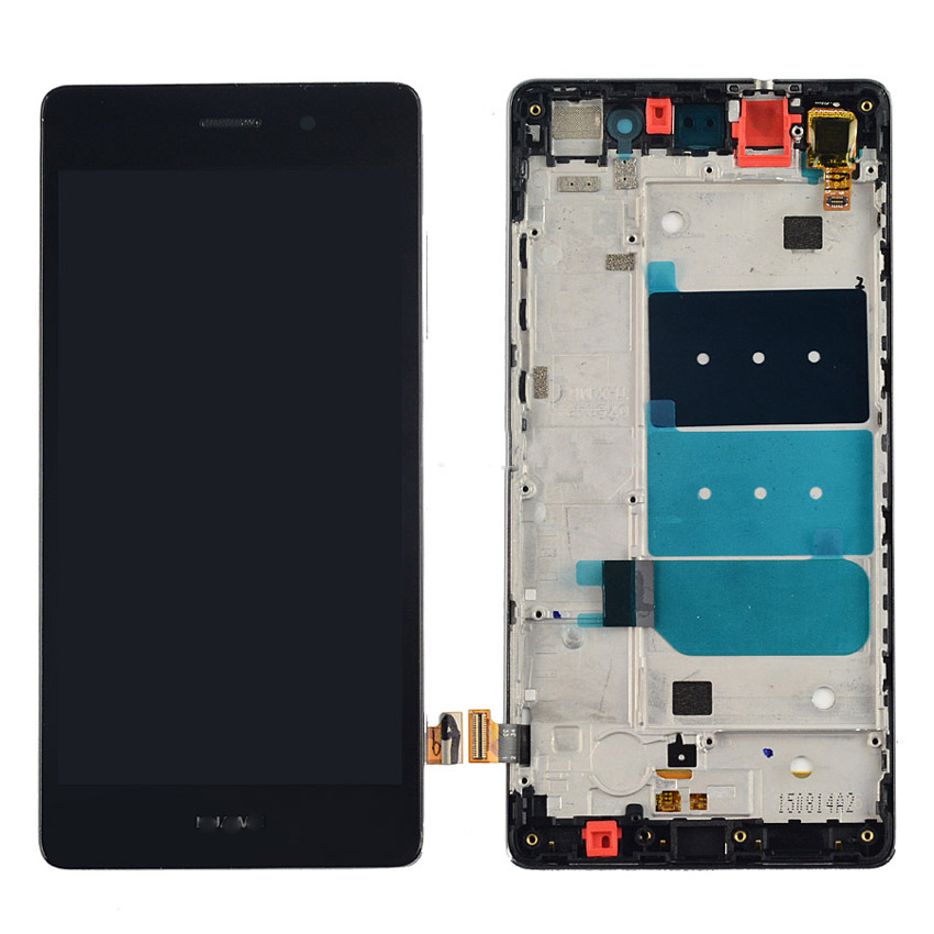 TOP Quality LCD Display + Touch Screen Panel Digitizer Assembly with Frame For Huawei Ascend P8 lite P8lite white /black