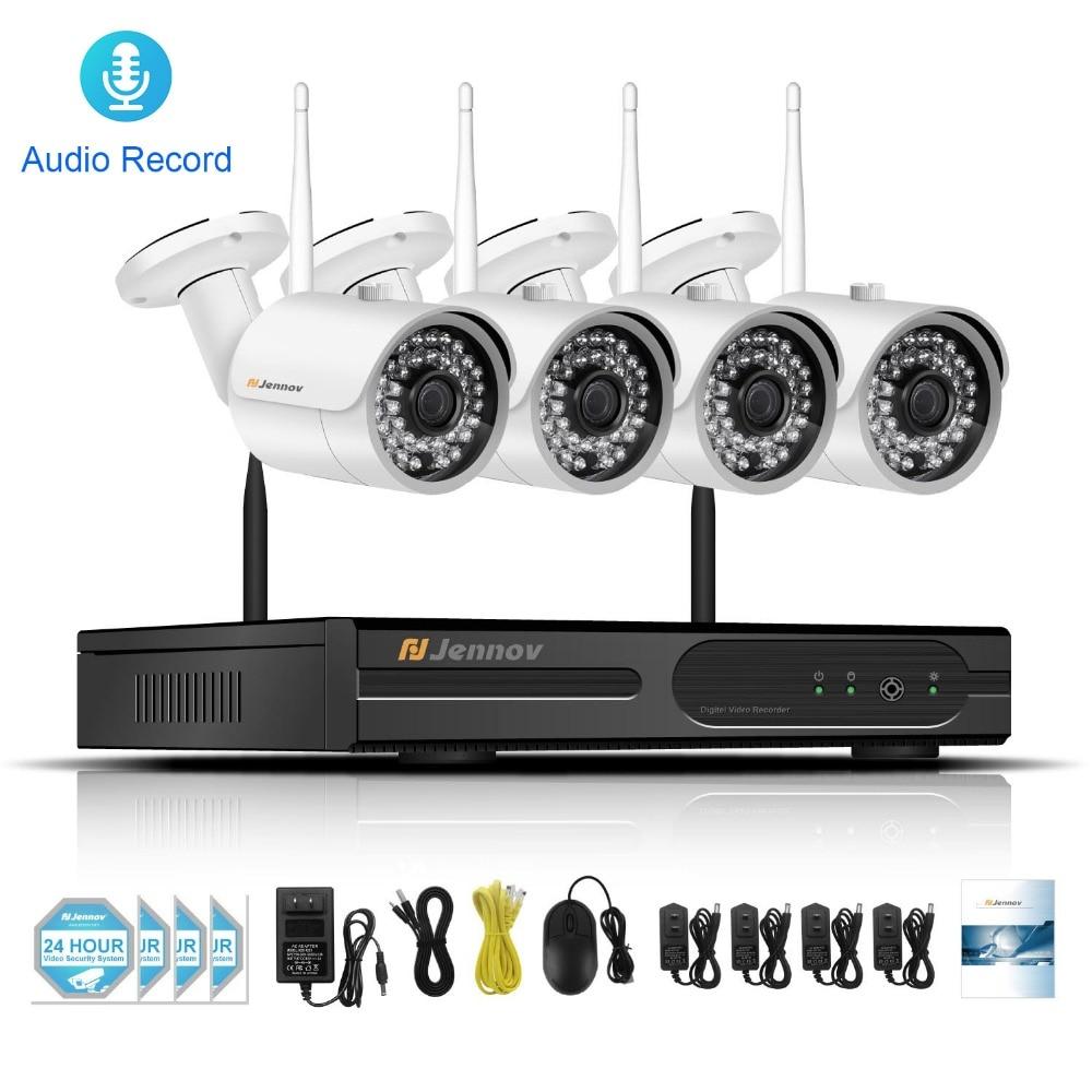 все цены на 4CH CCTV Kit 960P 1.3MP Wireless Security IP Camera System With NVR Wifi Video Audio Record Home Outdoor Surveillance Set Camera онлайн