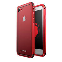 Metal Armor Cover For Apple IPhone 8 Case 8Plus Transparent Clear 9H Glass Cover Case For