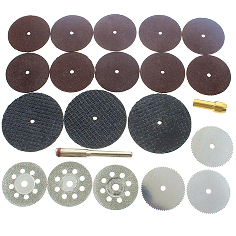 Grinding Wheels New Fashion 21pc Cutting Kit Emery Alloy Cutting Discs/small Toothed Saw Blade/dual-network/resin Sliced/slice Link Free Shipping