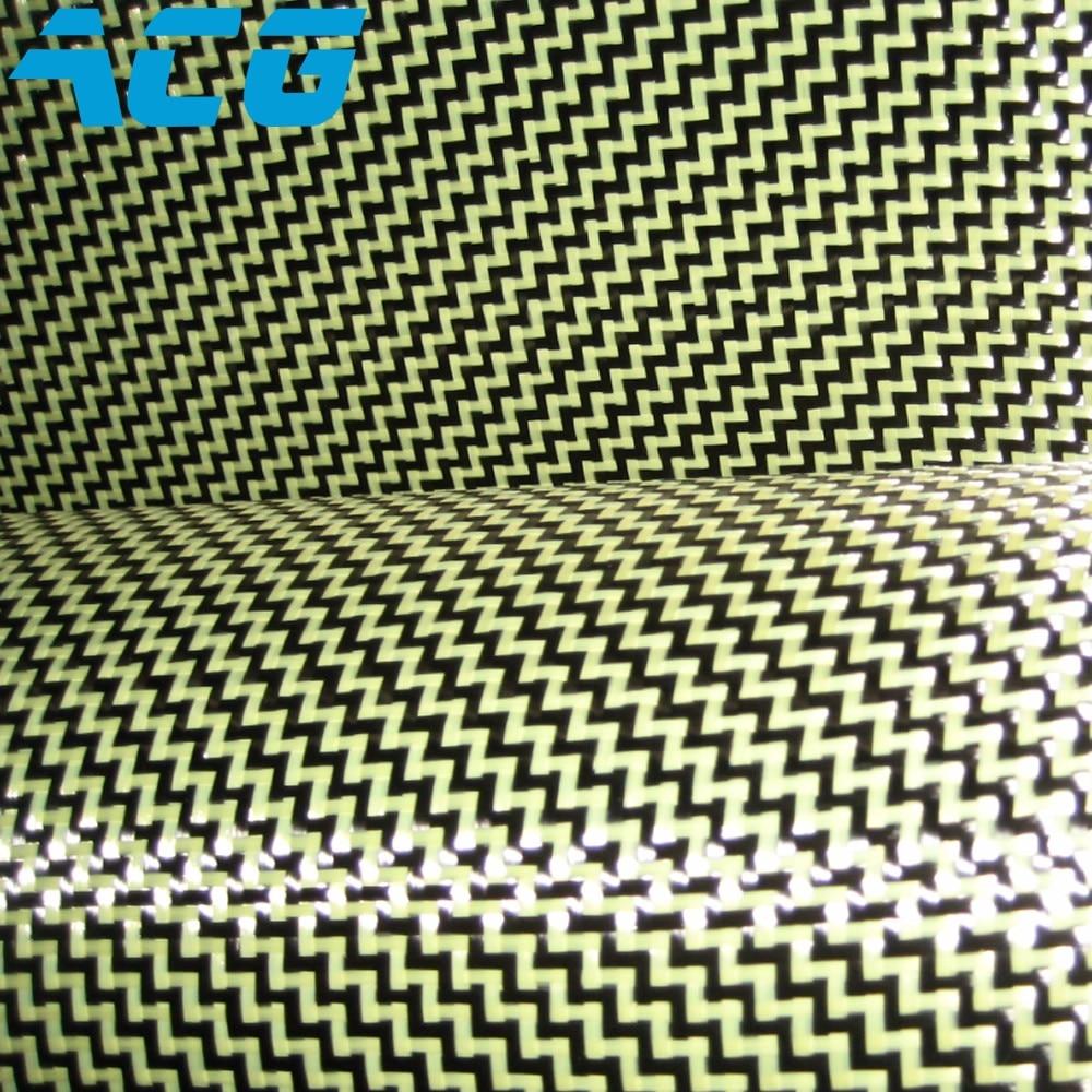 Kevlar carbon hybrid stof 200GSM W PATROON weave 10 m/partij 1500D kevlar-in Stof van Huis & Tuin op  Groep 1