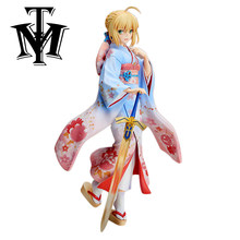 Anime cartoon Fate stay night Saber Lily 1/7 PVC 25 cm Action Figure ACGN Kimono Meisje Model hot kids Speelgoed christmas Gift juguetes(China)