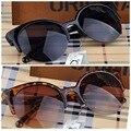Moda cat eye semi-aro dos óculos de sol das mulheres do vintage inspirado rodada círculo óculos de sol óculos de sol gafas oculos de sol feminino