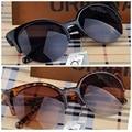 Moda cat eye sunglasses women vintage semi-sin montura gafas de sol gafas inspirado ronda círculo gafas de sol gafas de sol feminino