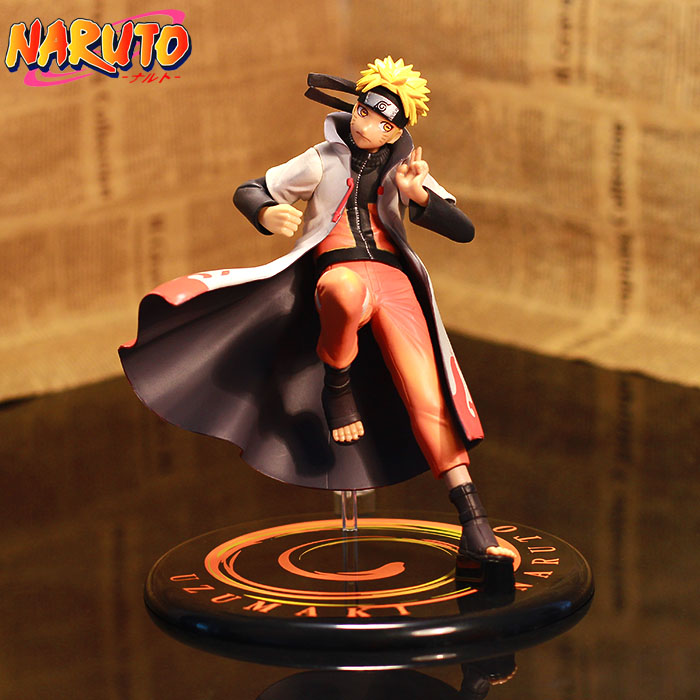 Anime GEM Naruto Shippuden Uzumaki Naruto Heads Hands Exchange PVC Action Figure Collection Toy 16cm 2pcs set naruto anime uzumaki naruto hyuga hinata pvc action figure model collection 16cm approx toy