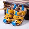 2017 Жаркое лето большой девственный 100% чистой натуральной кожи Баотоу пляж обувь дети кожаные сандалии кожаные девушки обувь мальчиков сандалии ch