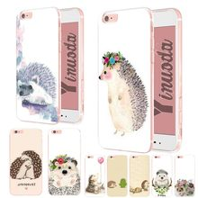 Yinuoda Animal cute cartoon hedgehog painting Colorful Cute Phone Case for iPhone Xs Max 8 7 6 6SPlus X XS XR 5 5S SE case Coque