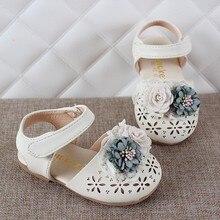 Г. Новая летняя детская обувь милые босоножки для девочек-принцесс из кожи с цветочным рисунком нескользящая обувь с вырезами для малышей