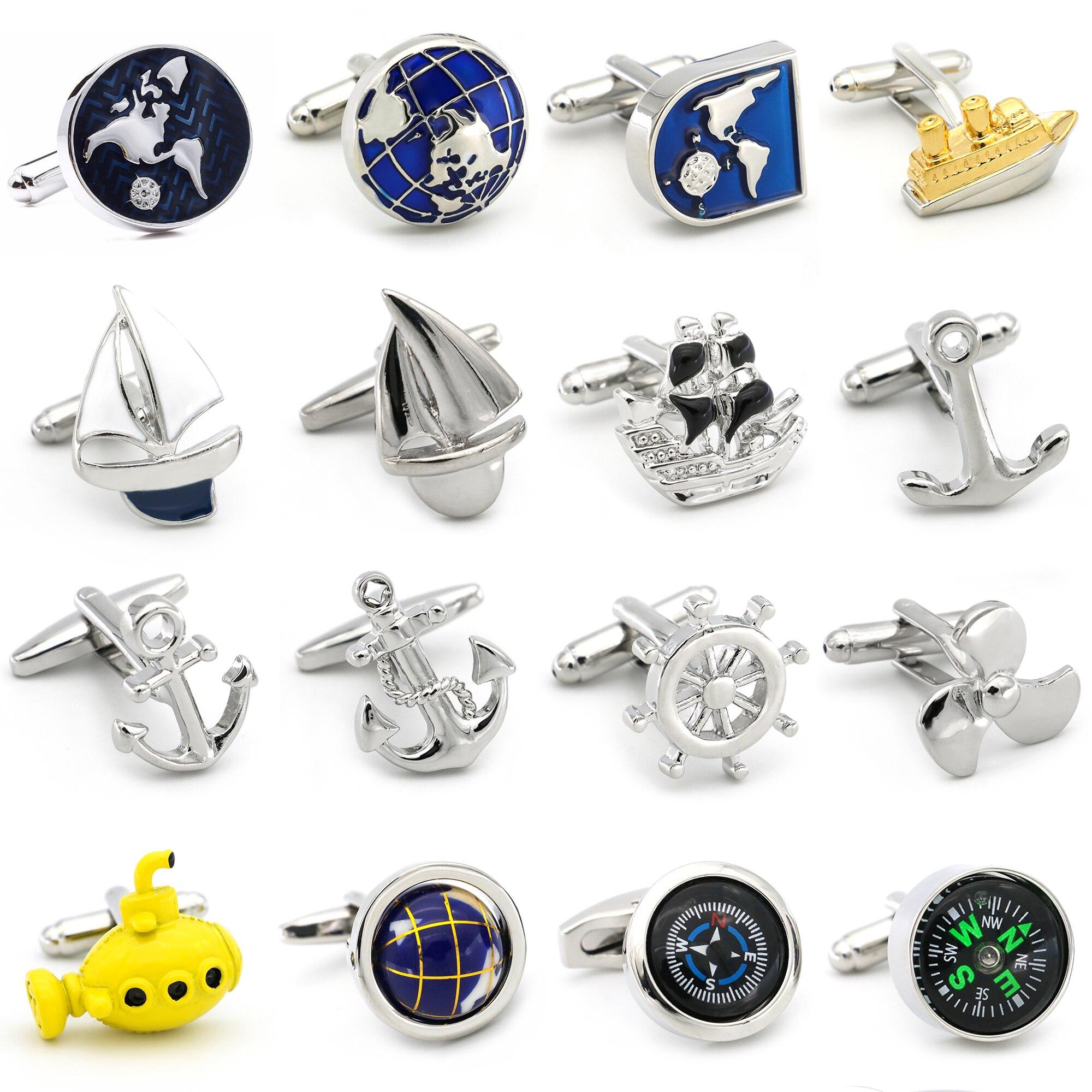 Seafaring Series Cuff Links 28 Designs Option Anchor Design For Seaman
