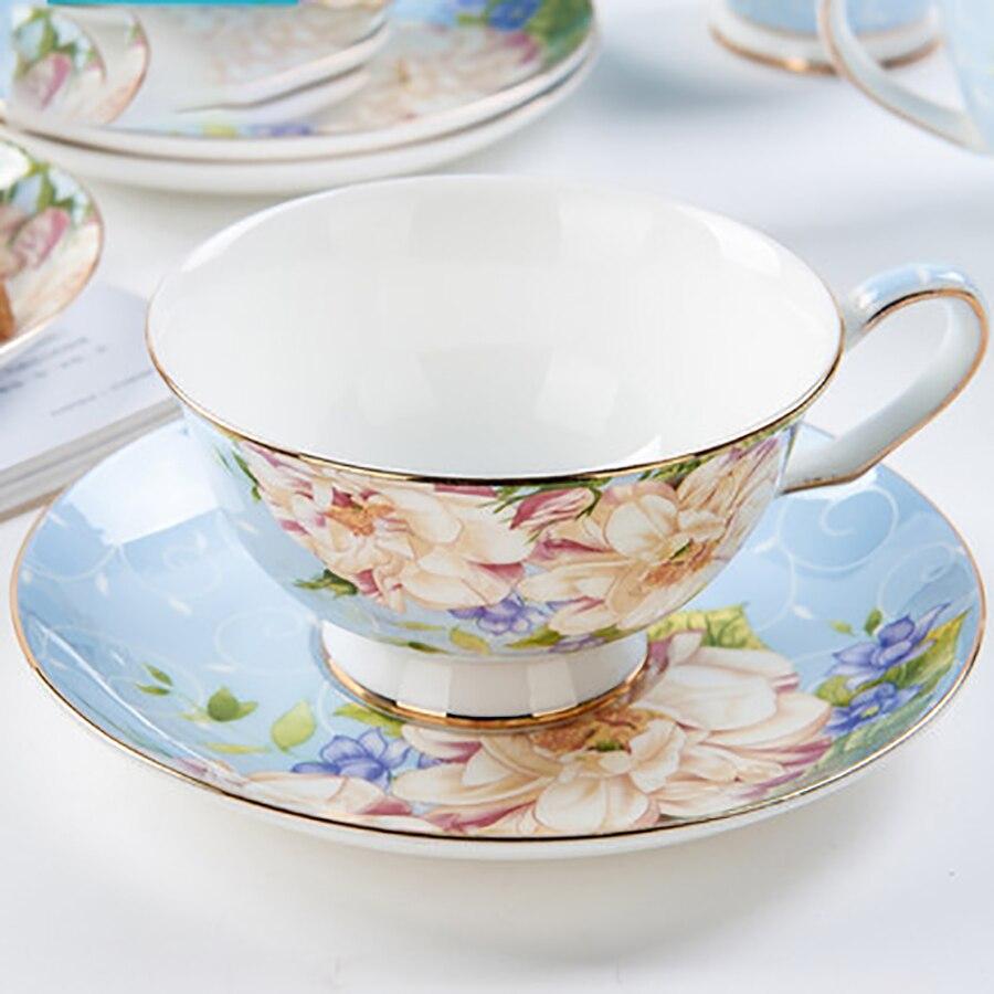 Vintage Elegant Coffee Cup Set Tea Ceramic Ceramics Fancy Tea and Coffee Set Saucer Tazas De Ceramica Creativas Set Home 5B001