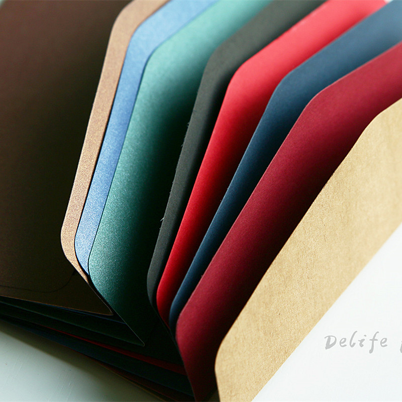 20pcs/set Cashmere Envelope Creative Stationery Paper Gift Craft Thicken Envelopes For Wedding Planner Letter Invitations