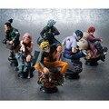 6 Pcs Anime Naruto Uzumaki Kakashi Gaara PVC Figure Toy Modelo Conjunto de Coleta de Gifa Presente da Criança Natal