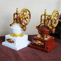 HAOCHU Vintage Old Film Projector Model Music Box Clockwork Phonograph Nostalgia Home Decor Crafts Valentine's Day Gift