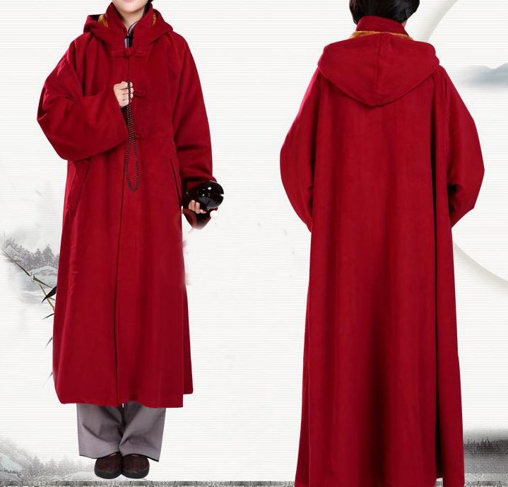 Buddhist Wool Suits In Arts Winter Lay 4colors Cloak Dark Monks Warm 49Off Cape Meditation Uniform Clothing Redbrowngray Robe 87 Martial Us146 TK13JFcl