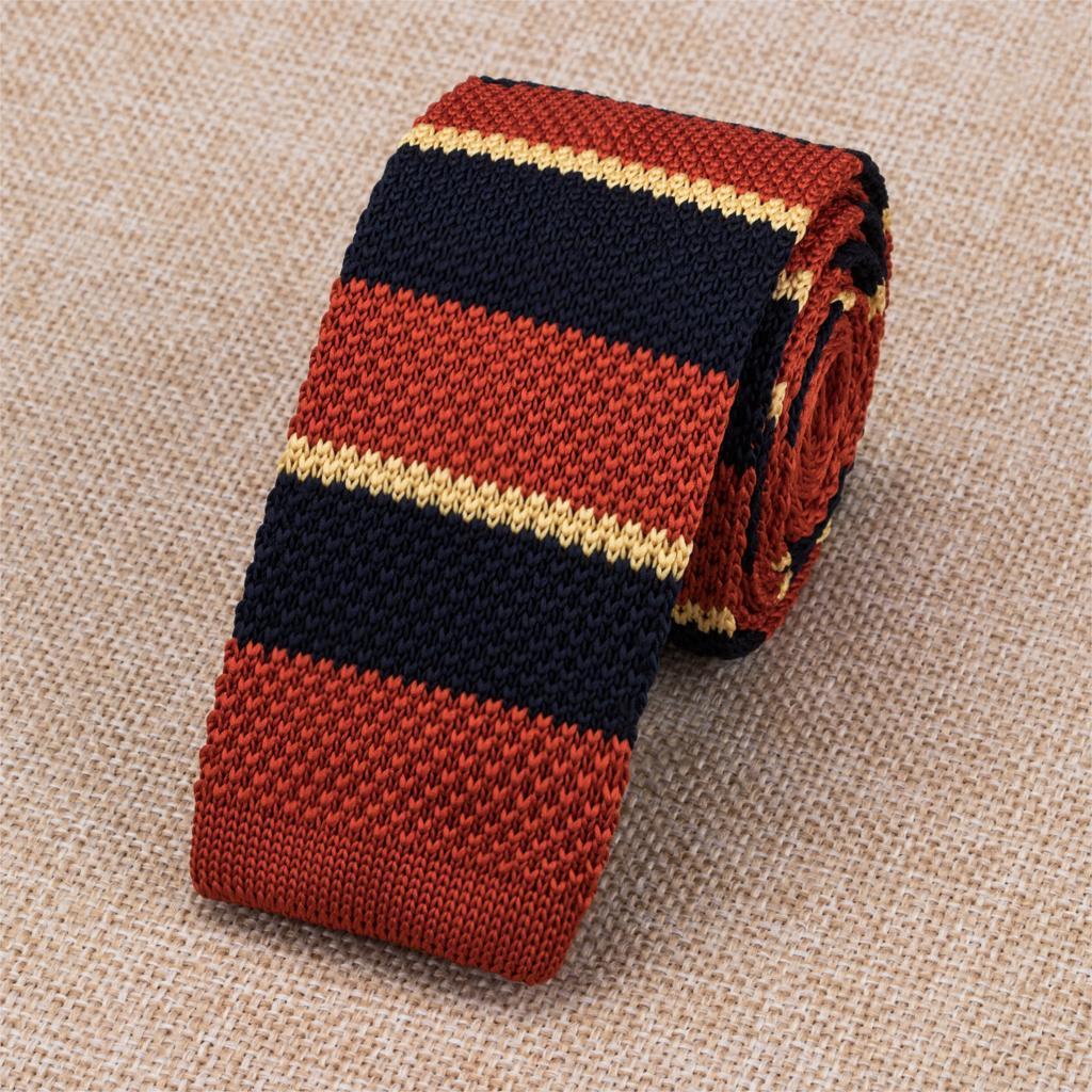 Hh-327 Neue Orange Casual Style Gestrickte Krawatten 6 Cm Dünne Gravata Mode Solide Hallo-tie Design Krawatte Auf Verkauf