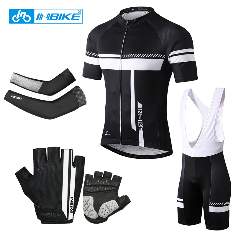 INBIKE Cycling Jersey Sets Bike Bib Shorts Summer Quick Dry MTB Bicycle Clothing Maillot Ropa Ciclismo Sport Mens Sportswear