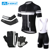 INBIKE Cycling Jersey Sets Bike Bib Shorts Summer Quick Dry MTB Bicycle Clothing Maillot Ropa Ciclismo Sport Mens Sportswear