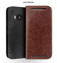 2016 New For HTC One M9 Original QIALINO Brand Real Natural Calf Genuine Leather Case for HTC M9 Luxury Flip Wallet Card Pocket