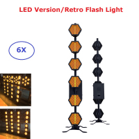 6XLot Six Line Hexa Pixel Lights 6X60W LED Retro Flash DMX Stage Light Disco Lamp Dj Lighting Effect Flashlight Free Shipping