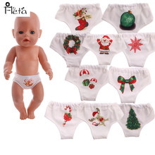 Doll Accessories  Lovely Christmas pattern Underpants Fit 43cm Best Toys for Children