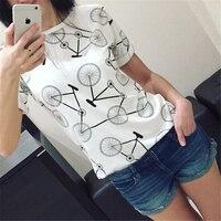 2017 Hot Sale Fashion Sexy Harajuku Style T Shirts Big Yards Women Wear Short Sleeve Casual T-Shirt Blusas Femininas plus size