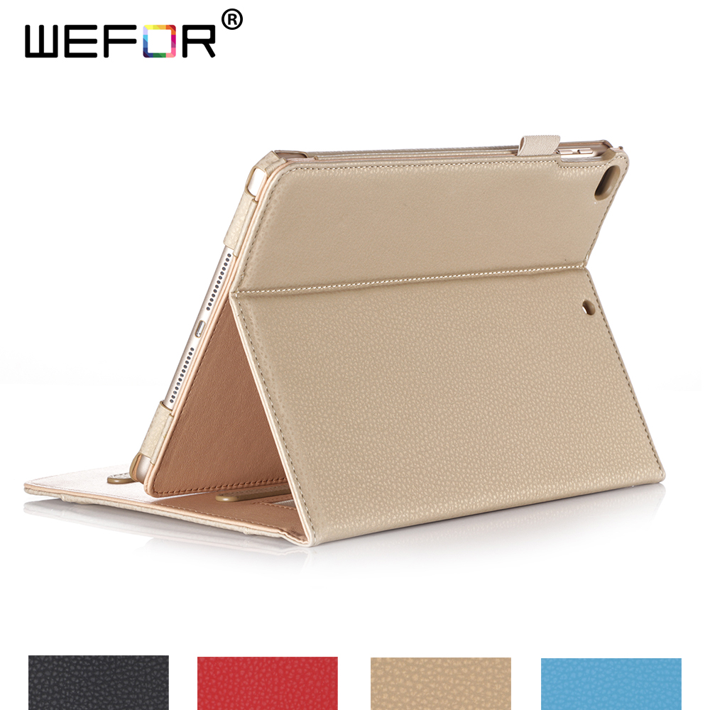 For New iPad 9.7 2017 Case,Stand Folio Case Cover for Apple iPad 9.7 2017, with Multiple Viewing Angles, Document Card Pocket for asus zenpad s 8 0 z580c case multiple viewing angles ultra compact slim card holder hand strap stand case cover