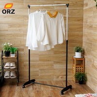 ORZ Adjustable Clothes Drying Rack Iron Laundry Organizer Hanger Towel Shoe Dress Garment Bar Heavy Duty Hanging Rack